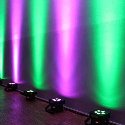 Als Bild für die Akku-Floorspots, ist unter der Kategorie Extras eine Wand zu sehen, welche die Akku-Floorspots im Einsatz zeigt.