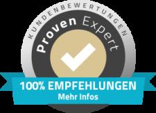 Als Bewertungen der Engels Eventagentur, ist das Logo vom Proven Expert zu sehen.
