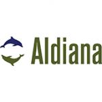 Als Logo der Referenzen bei Aldiana, sind zwei Delfine zu sehen.