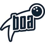 Als Logo der Referenzen bei Bowling Arena Spich, ist ein einfarbiges Logo zu sehen.