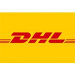 Als Logo der Referenzen bei DHL, ist ein zweifarbiges Logo zu sehen.