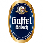 Als Logo der Referenzen bei Gaffel, ist ein dreifarbiges Logo zu sehen.