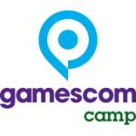 Als Logo der Referenzen bei Gamescom Camp, ist ein dreifarbiges Logo zu sehen.