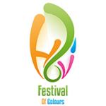 Als Logo der Referenzen bei Festival of Colours, ist ein vierfarbiges Logo zu sehen.