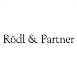 Als Logo der Referenzen bei Rödl & Partner, ist ein einfarbiges Logo zu sehen.