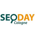 Als Logo der Referenzen bei SEO DAY Cologne, ist ein zweifarbiges Logo zu sehen.