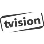 Als Logo der Referenzen bei tvision, ist ein dreifarbiges Logo zu sehen.